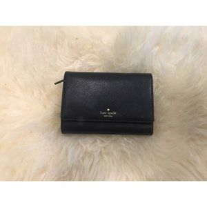 NEW! Kate Spade Black Leather Callie Wallet